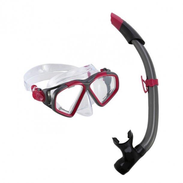 Combo Hawkeye Snorkelsæt | Rød
